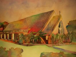 St. Alban's Chapel Watercolor by duanejudo