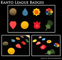 Kanto Gym Badges by BklynSharkExpert