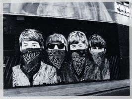 The Beatles wall by Invincible3713