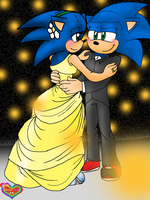 278 - CE - Sonica and Sonic by DaisyMGirl