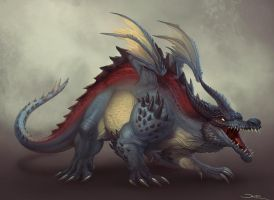 Creature Design - Dragon by damie-m