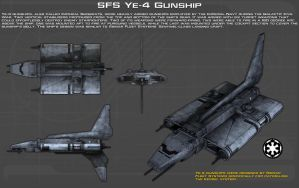 SFS Ye-4 Gunship ortho [New] by unusualsuspex