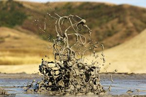 Eruption of Mud Volcano Romania by RichardConstantinoff