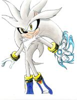 Old Art-Silver the Hedgehog Colored by BroDogz