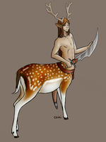 Meryanxas - fallow deer by Crimi-Azna
