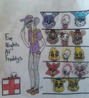 Five Nights At Freddy's Cover Page! by SKYthecat123