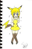 Pika-Pika-Pikachu GIRL by Arigalaxy