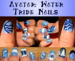 Avatar: Water Tribe Nails by Celeste707