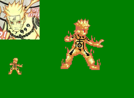 Naruto Nine Tail Chakra Mode Sprite(Rikoudo Mode) by DemonfoxKnight