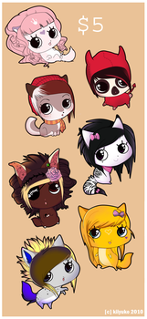 ::$5 CUSTOM! Chibi Commissions:: by kiiyuko