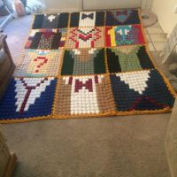 Doctor who crochet afghan  by SK8Abby