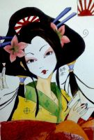 Postcards to Japan: Geisha by CloudNinja5