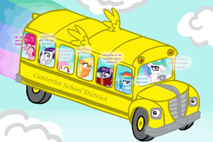 Friendship is Magic School Bus by InkRose98