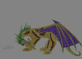 Wounded Orora by YoungShadowWolf