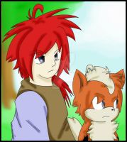 Nazil as Human and Growlithe by Sonic201000