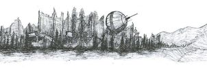 Post-Apocalyptic Landscape by Malcadon