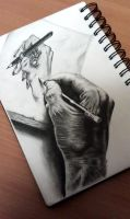 3D Drawing: Hand drawing a hand by oMimic