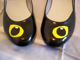 Cat Eyes Shoes closeup by KimsButterflyGarden