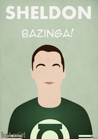 The Big Bang Theory - Sheldon by BantamArt