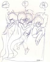 The Beatles share a bed! by SiXProductions
