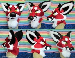 Red Fox Head by LobitaWorks