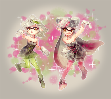 Squid sisters by Hanybe