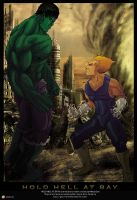 Vegeta VS Hulk - Promo Art by Gourmandhast