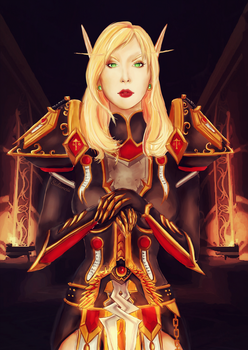 Blood elf Paladin by Saliancia