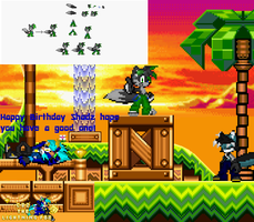 Birthday gift: revamped Shadz sprite by Coz-the-Fox