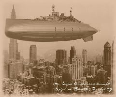 Skyline (sepia) by ColorCopyCenter