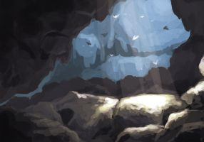 A Cave by Jeffufu