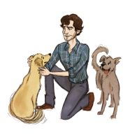 Will Graham + puppies by Salzburger89