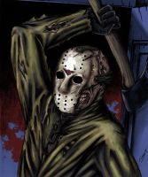 Friday the 13th Double Page Drawing Panel 1 by JSimonART