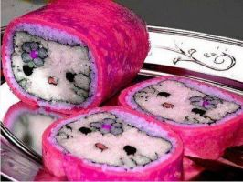 Hello Kitty SUSHI!! by annisDoom