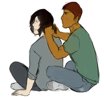 Help me with my hair by Aellos