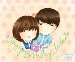 Kyuberry Couple~ HBD CheekyFlower! ^ ^ by Lanaleiss