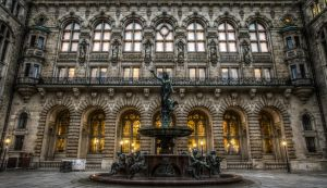 Rathaus Hamburg, Germany by Meduana