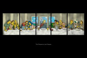 The Simpsons Last Supper by reverendo-bonifacio