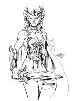 She-Ra Sketch inked by MatiasSoto