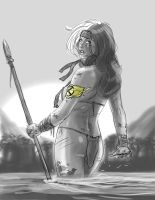 Savageland Rogue Sketch Pinup by frelncer