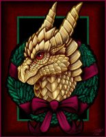 Christmas Dragon 2008 by DragonosX
