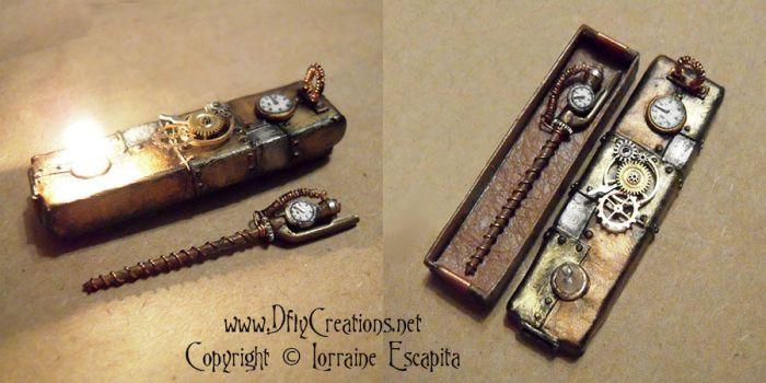 Steampunk Wand and Box by DFLY847