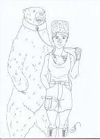 Request:: Lady with bear by Arashka