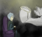 Old Woman Josie And The Angels by orchdork-cellist