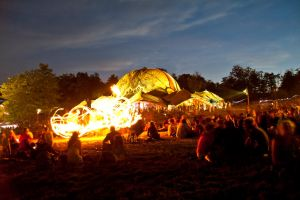 Fire Artists at Ozora Festival by scwl