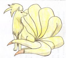 Ninetales by Cloudy-Darkness