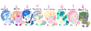 Shipping Batch~ (WINNERS AND POINT ADOPTS) by MissMagicalWolf