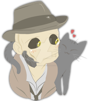 Nick Valentine - Stop that, cat. by pistachioZombie