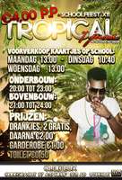 tropical party flyer by LazyN