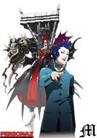 Eikichi Mishina and Hades Icon by M by MarioTheArtistM